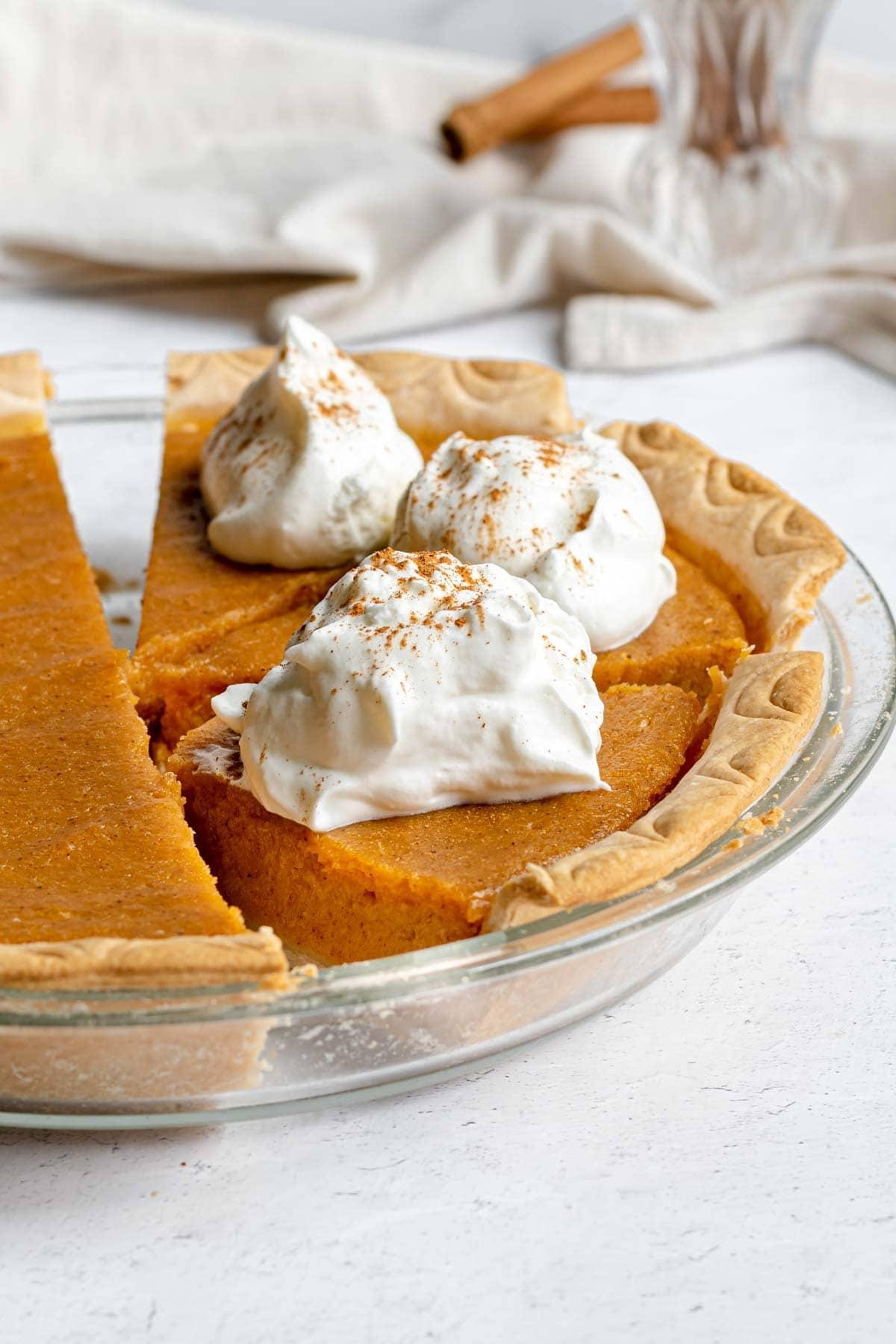 Sweet Potato Pie in pie dish