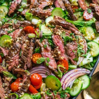 Thai Beef Salad on serving tray