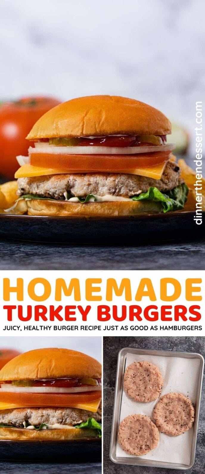 Homemade Turkey Burgers collage