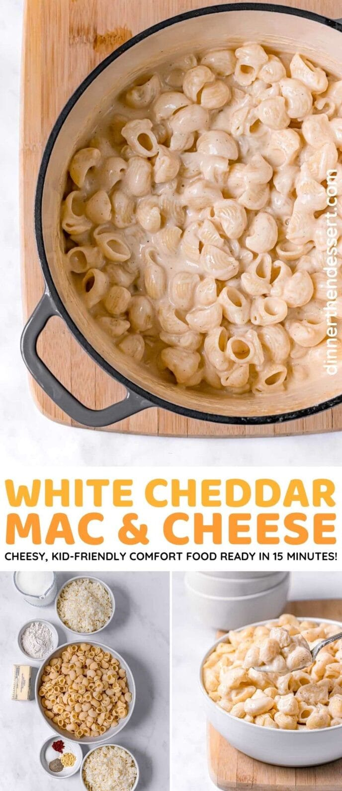 White Cheddar Mac & Cheese collage