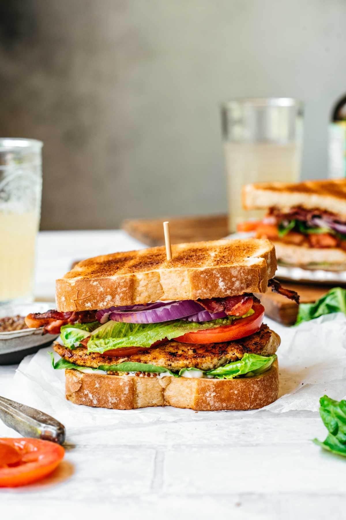 Assembled Grilled Chicken Sandwich