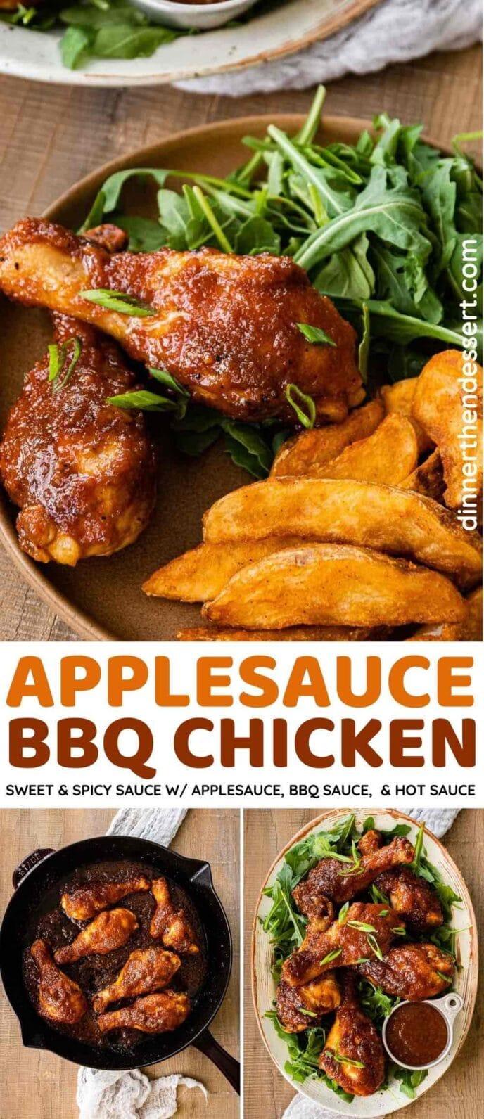 Applesauce BBQ Chicken collage