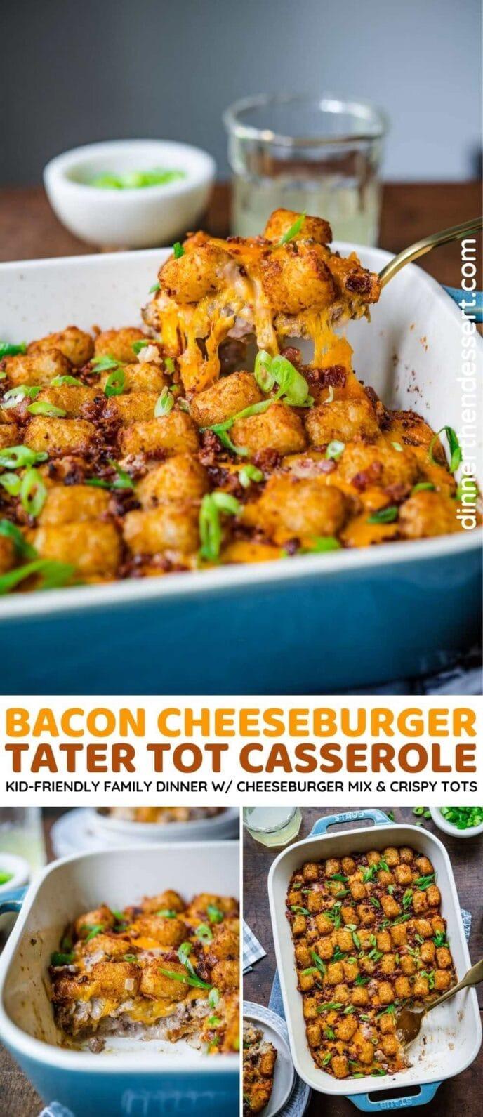 Bacon Cheeseburger Casserole collage