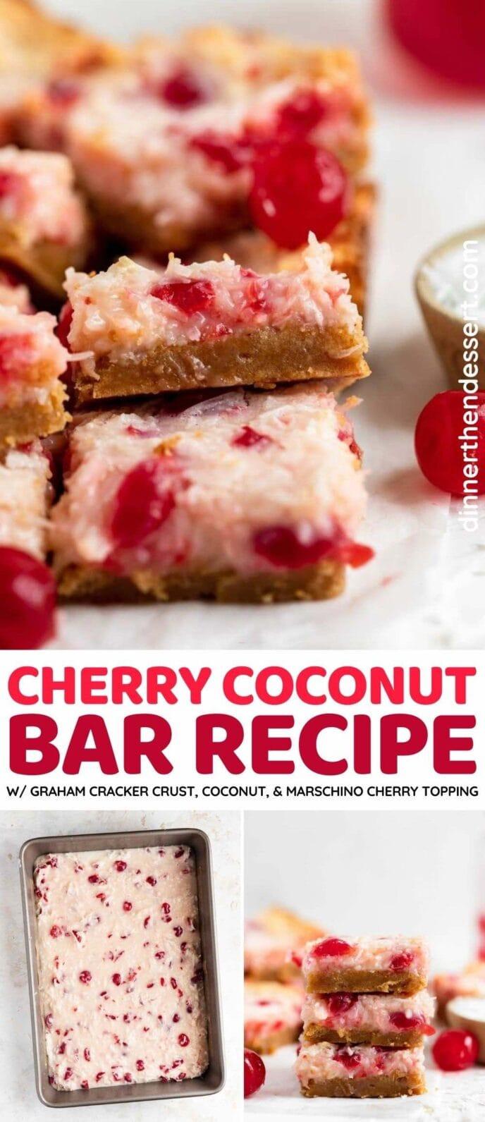 Cherry Coconut Bars collage