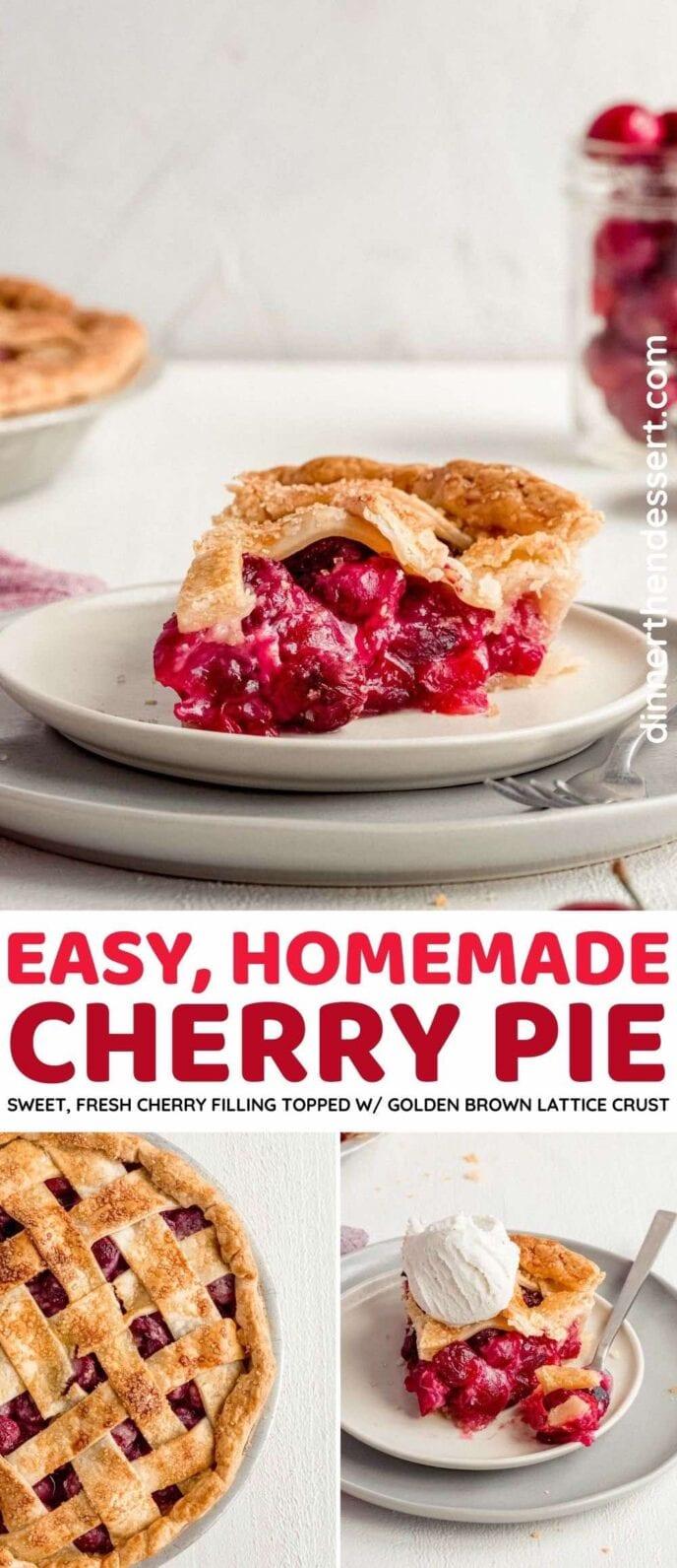 Homemade Cherry Pie collage