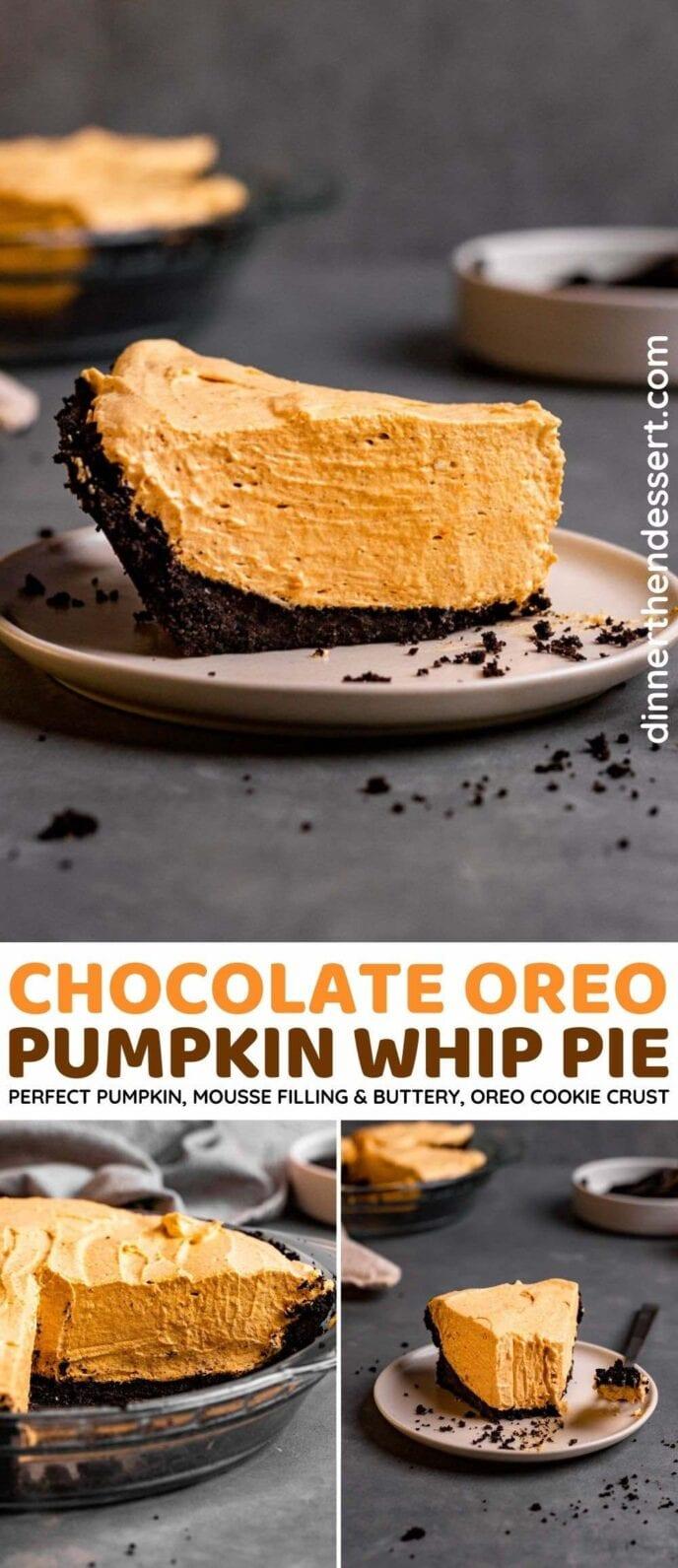 Chocolate Oreo Pumpkin Whip Pie
