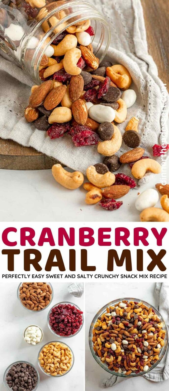 Cranberry Trail Mix collage