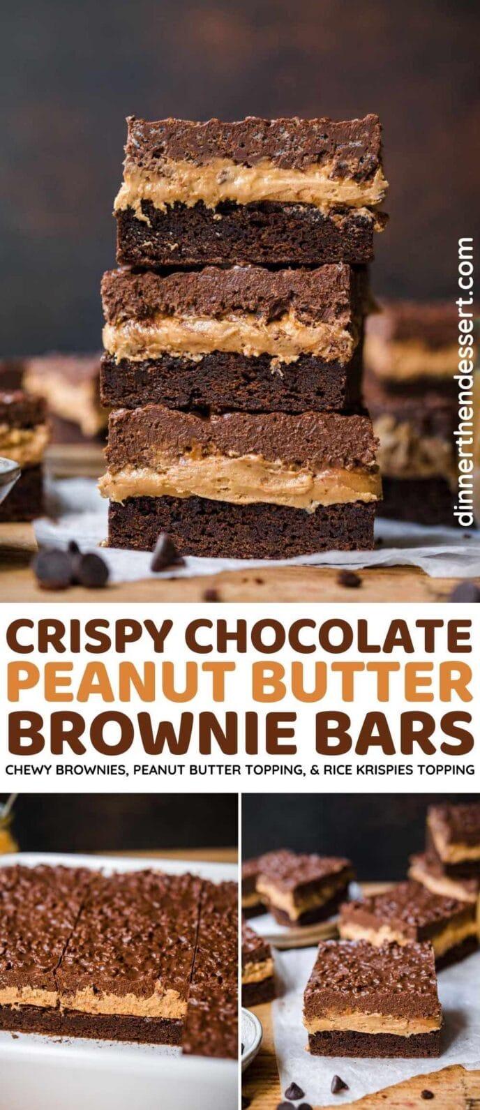 Crispy Chocolate Peanut Butter Bars
