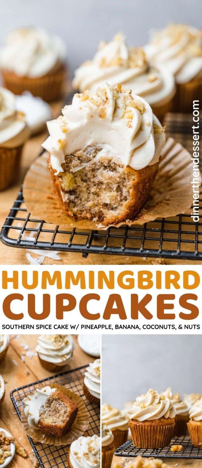 Hummingbird Cupcakes collage