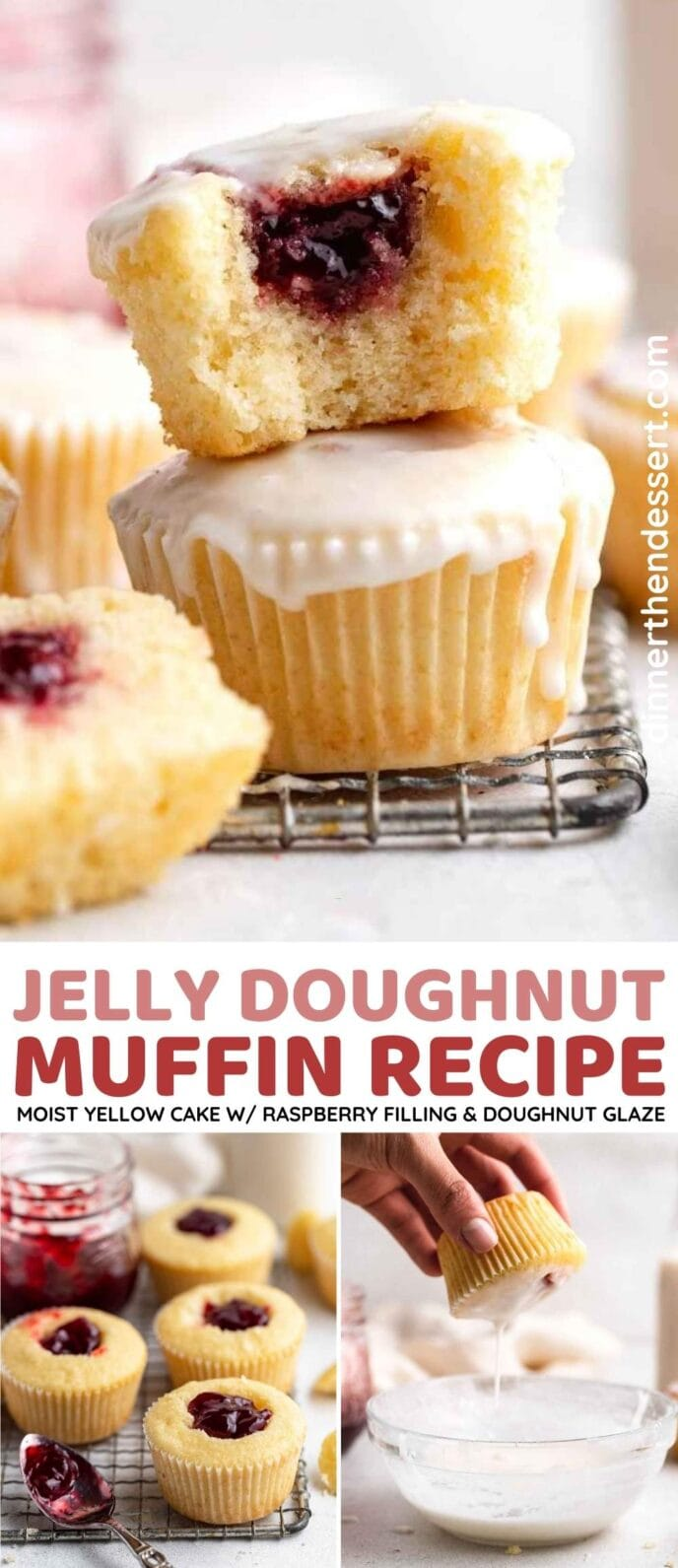 Jelly Doughnut Muffins Collage