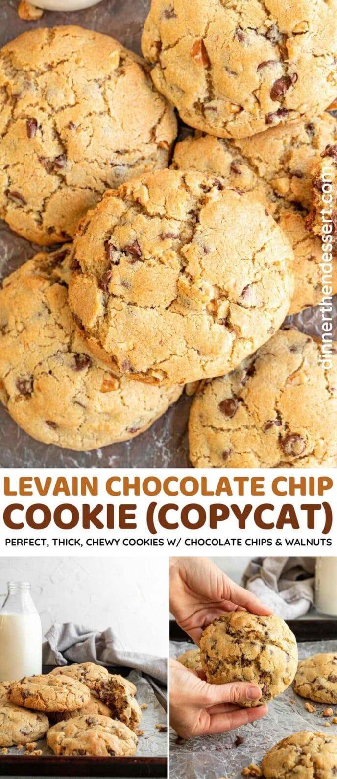 Levain Cookies collage