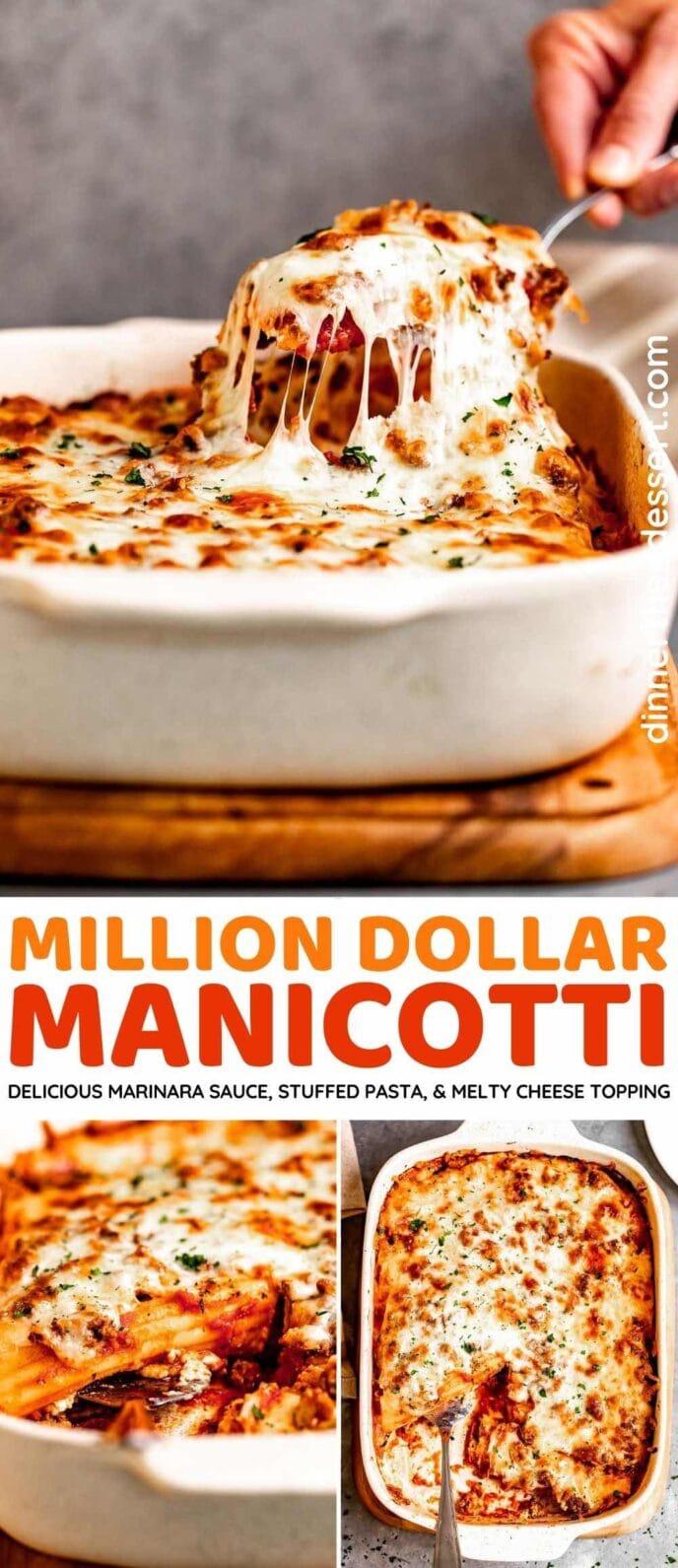 Million Dollar Manicotti collage