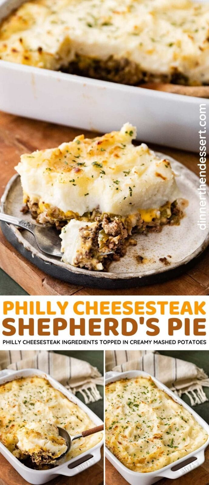 Philly Cheesesteak Shepherd's Pie