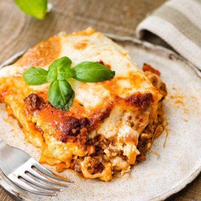 Ravioli Lasagna Bake on plate