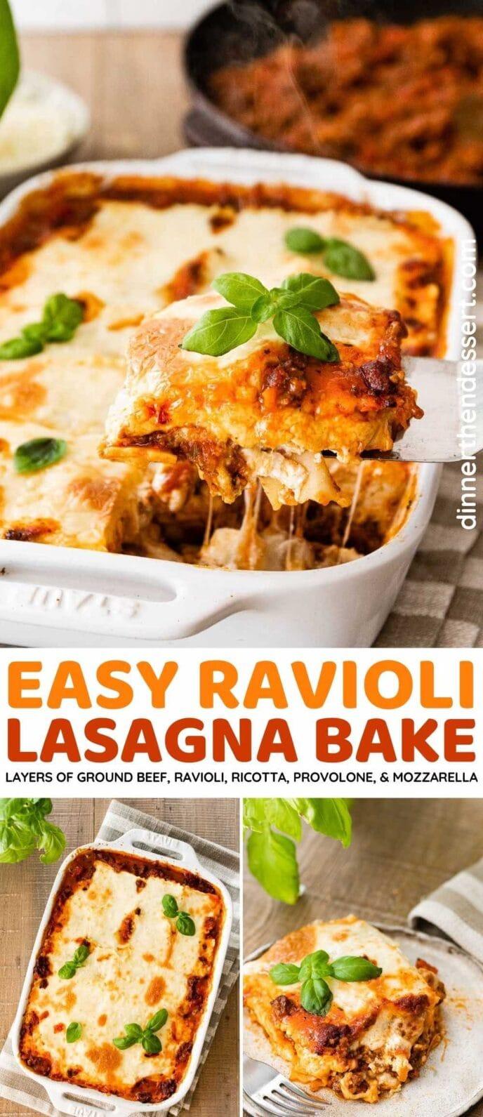 Ravioli Lasagna Bake collage