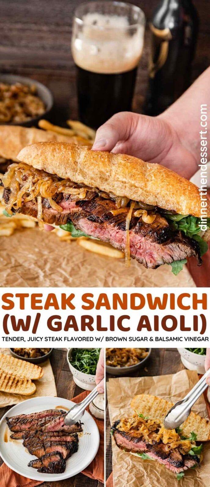 Steak Sandwich w/ Garlic Aioli collage