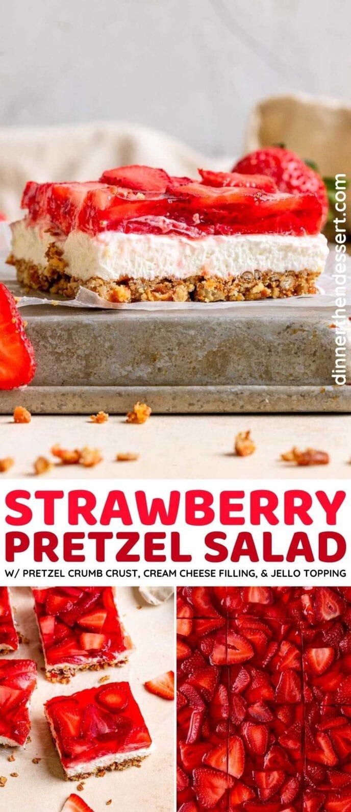 Strawberry Pretzel Salad collage