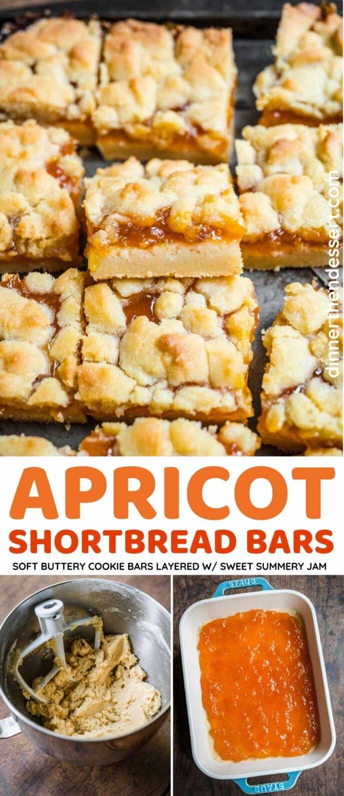 Apricot Shortbread Bars Collage