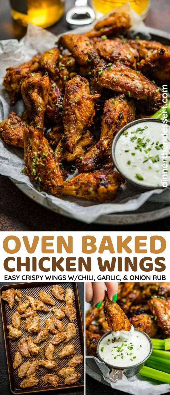 Baked Chicken Wings Collage