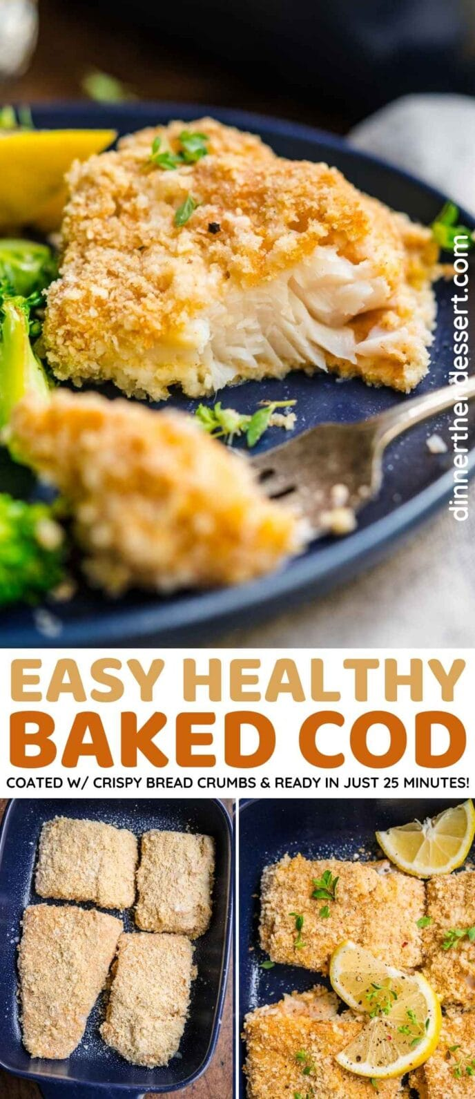 Baked Cod collage