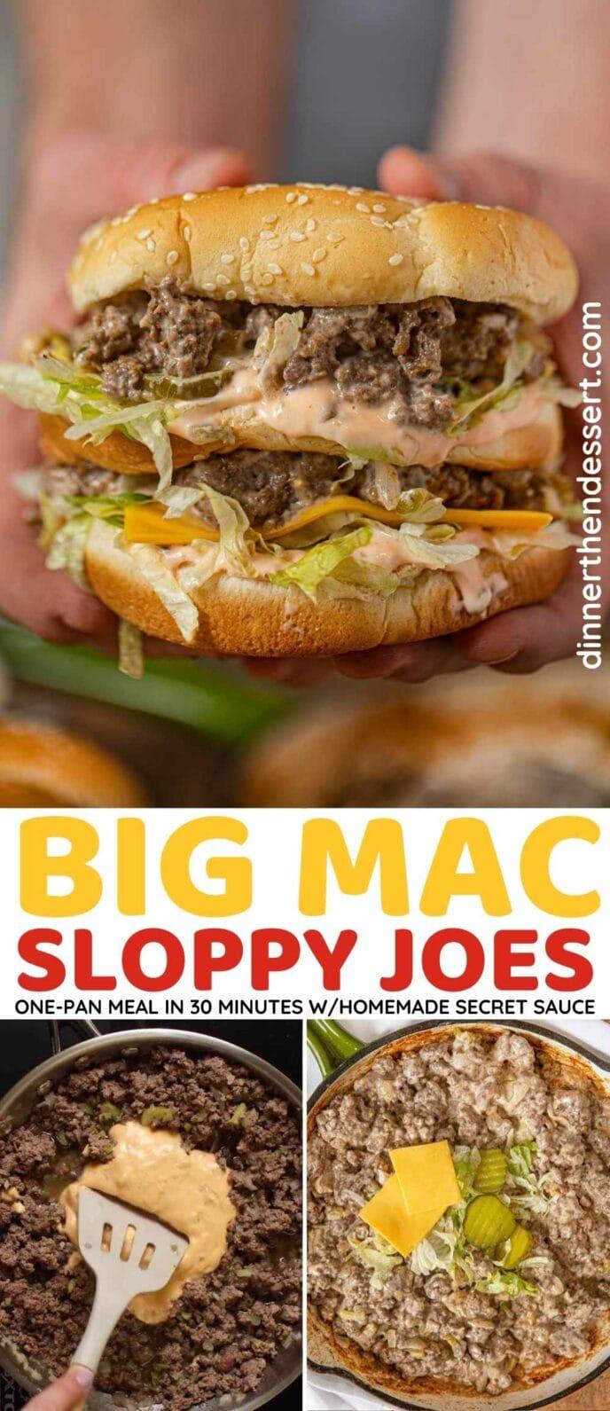 Big Mac Sloppy Joes Collage