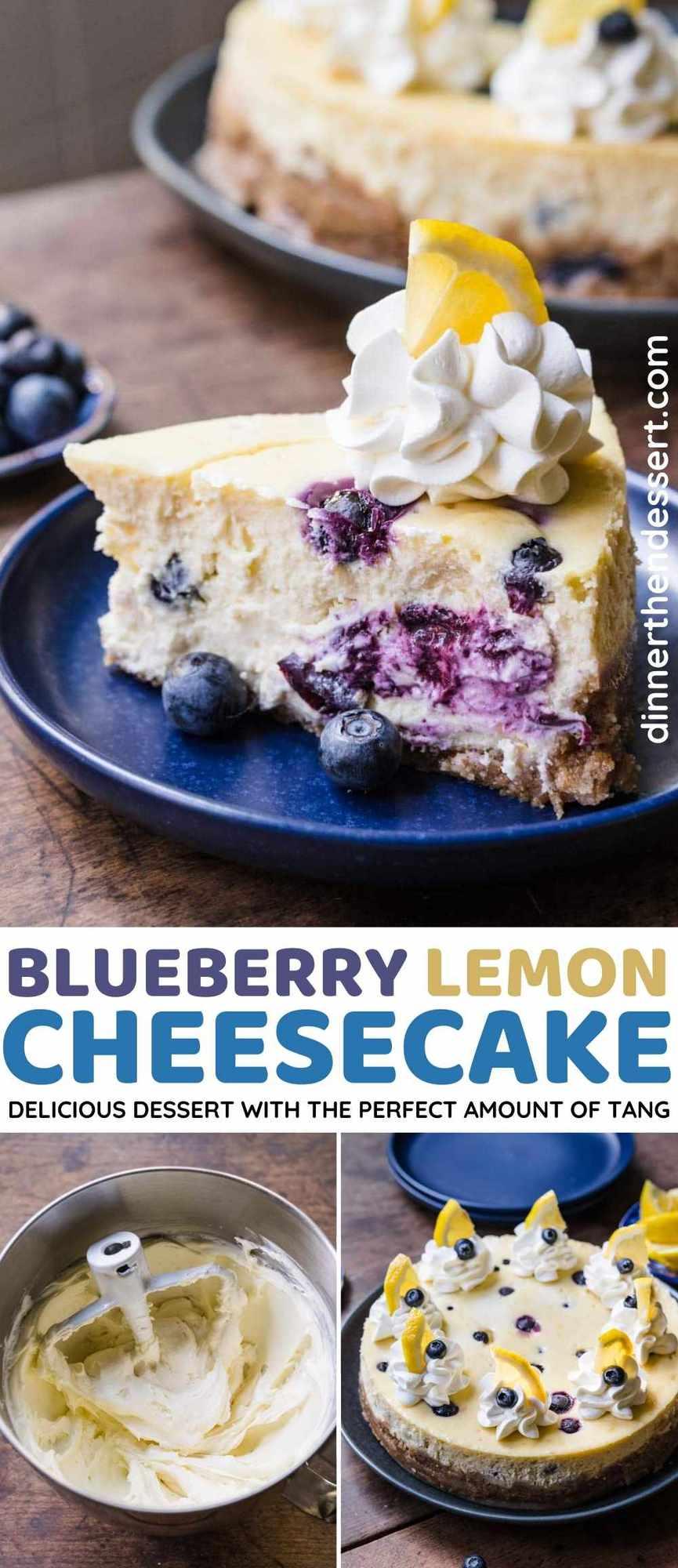 Blueberry Lemon Cheesecake collage
