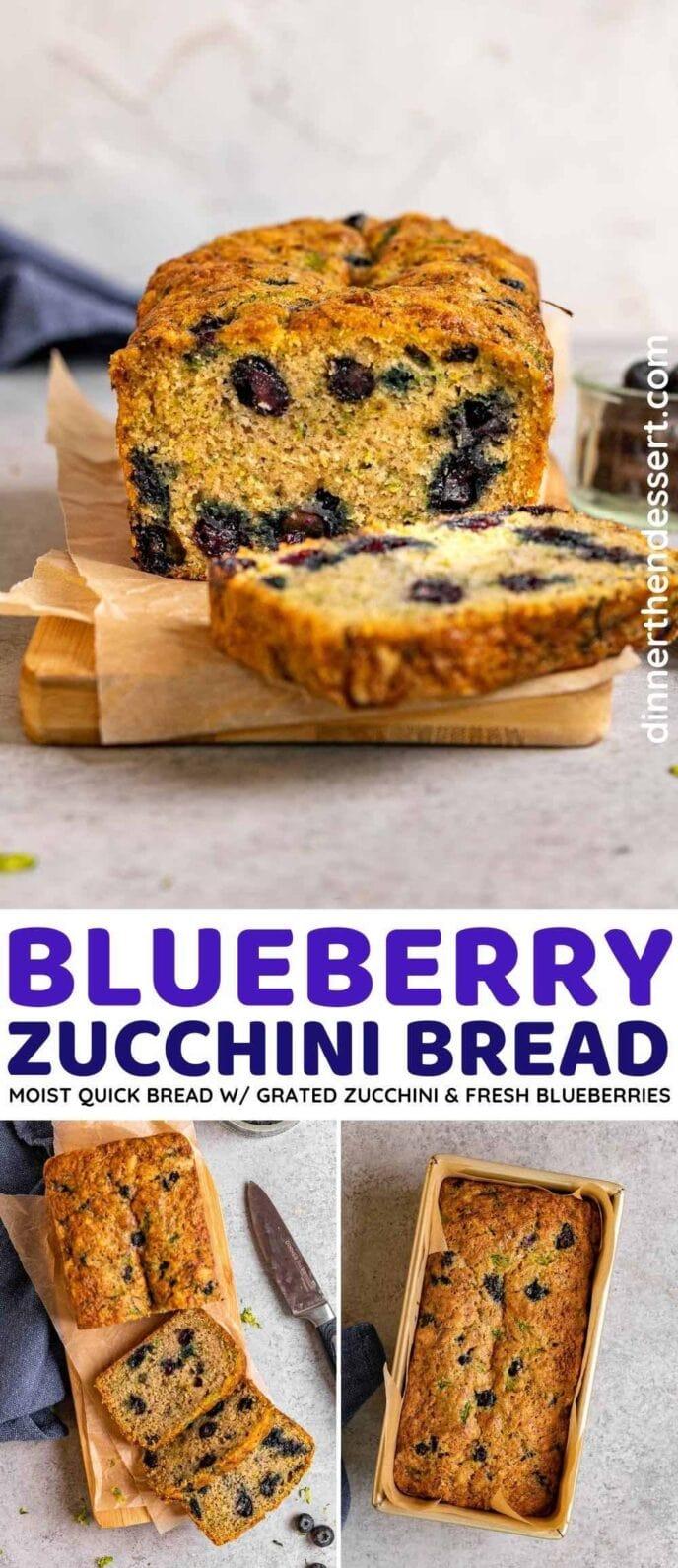 Blueberry Zucchini Bread collage