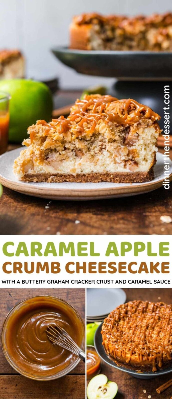 Caramel Apple Crumb Cheesecake Collage