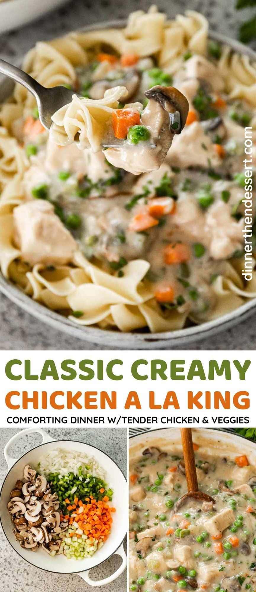 Chicken A La King Collage