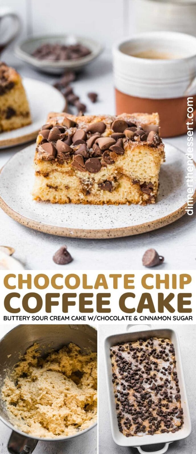 Chocolate Chip Coffee Cake Collage