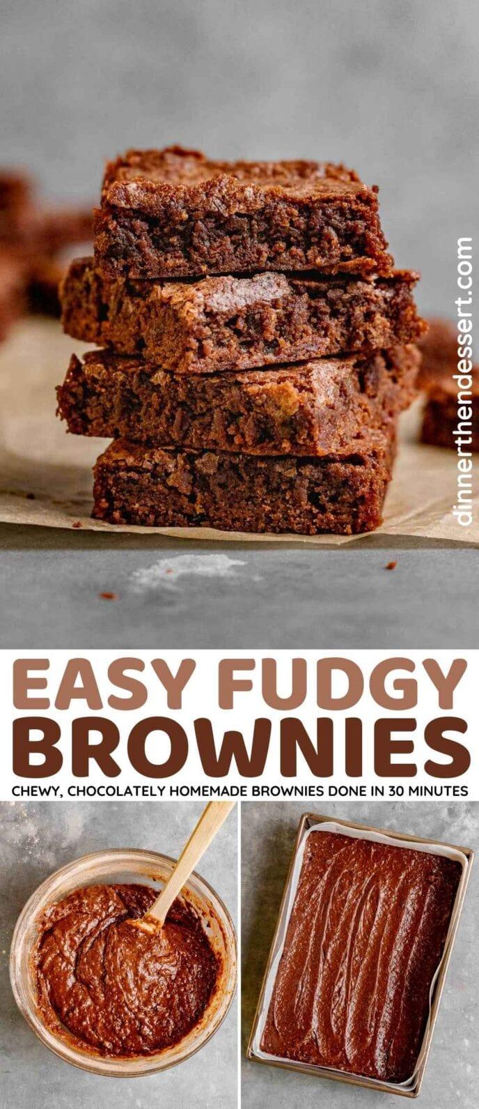 Fudgy Brownies Collage