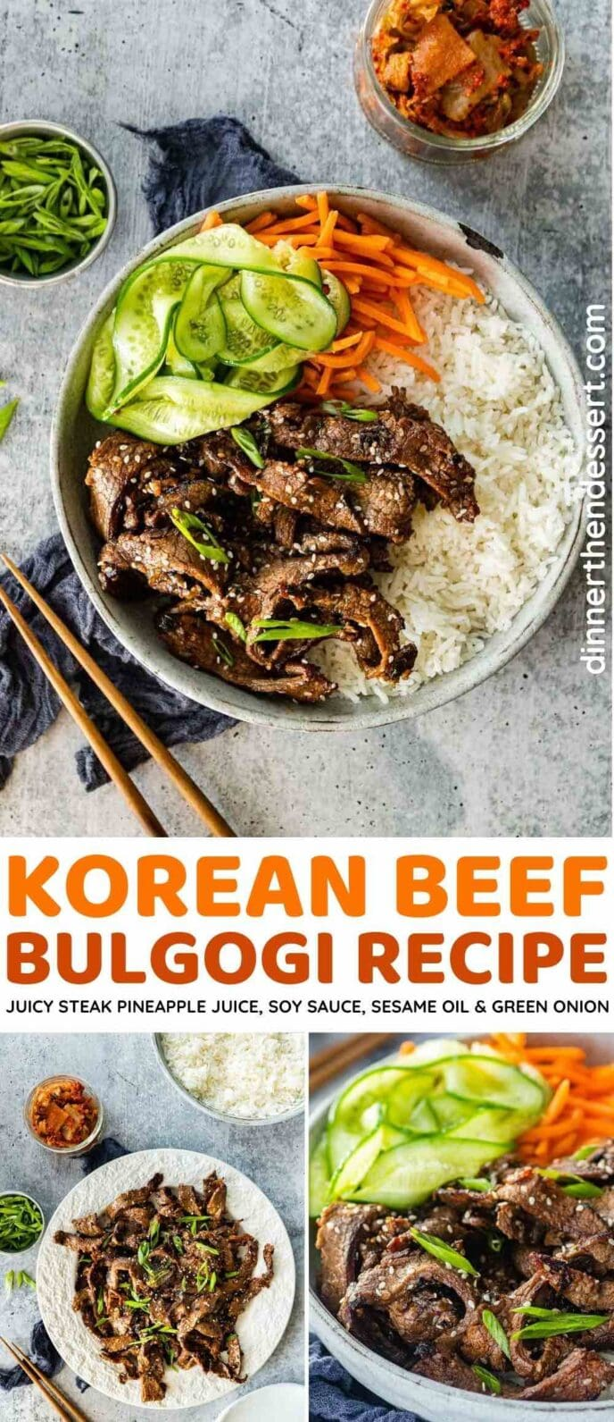 Korean Beef Bulgogi collage