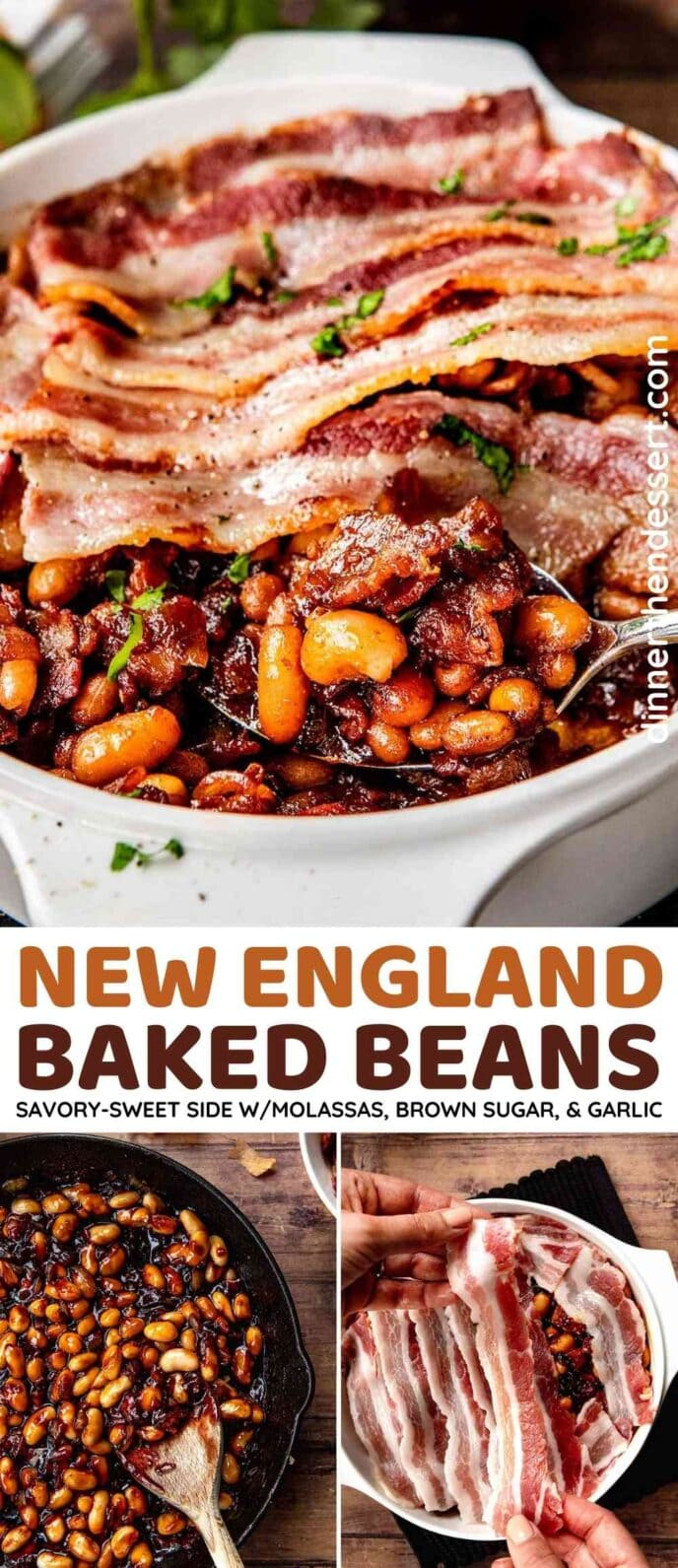 New England Baked Beans Collage