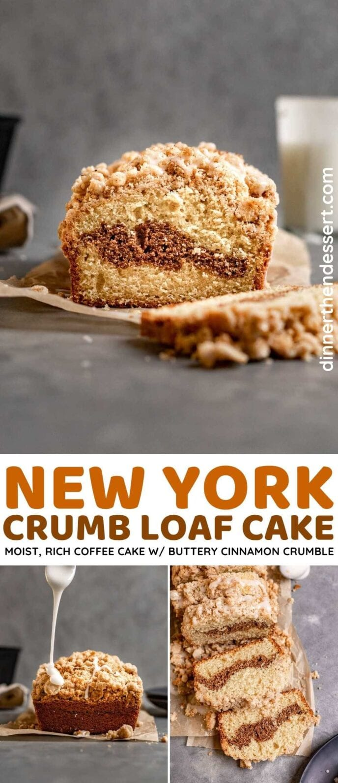 New York Crumb Loaf Cake collage