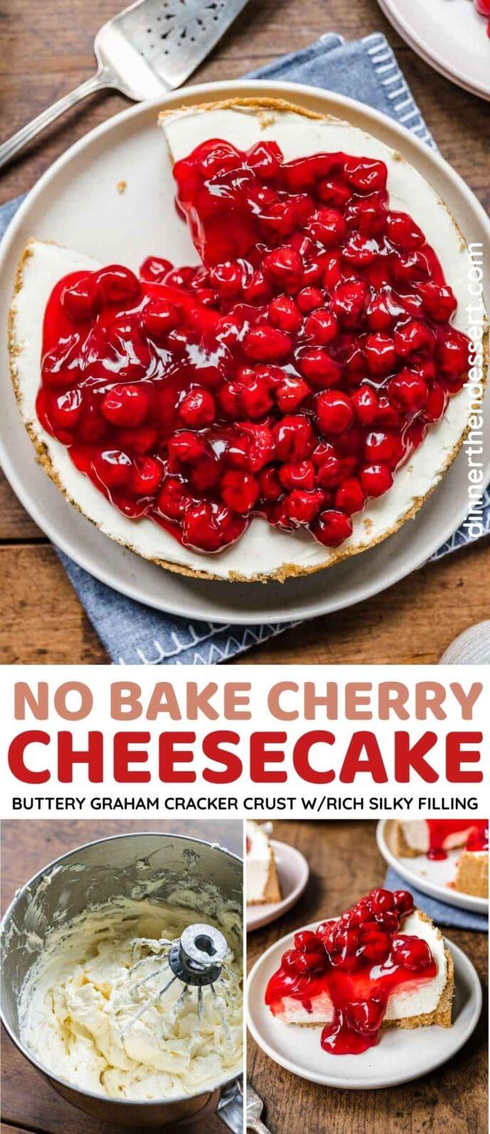 No Bake Cherry Cheesecake Collage