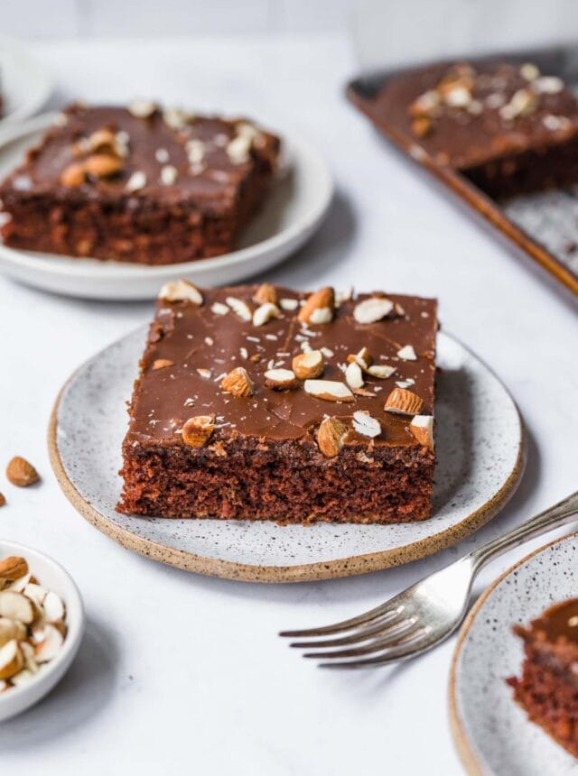 Chocolate Buttermilk Squares on plate