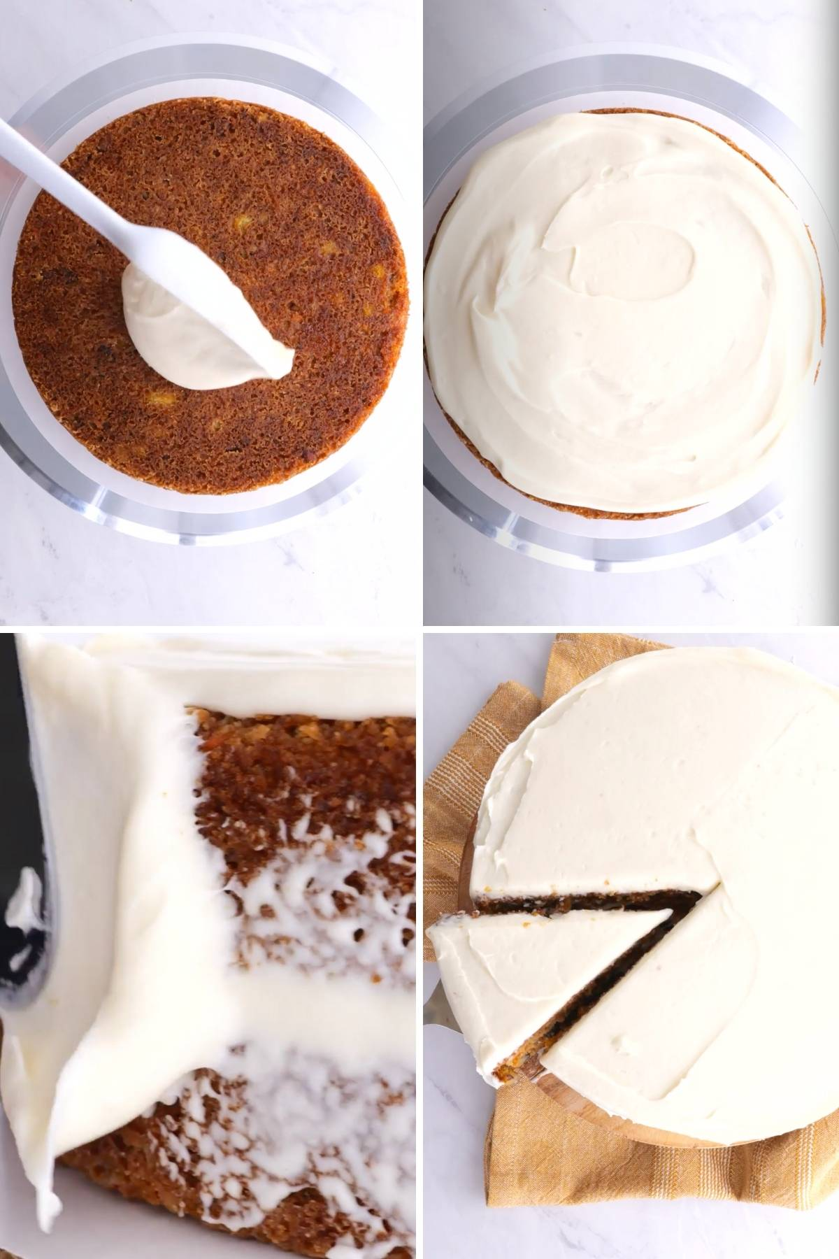 Carrot Cake Frosting Collage