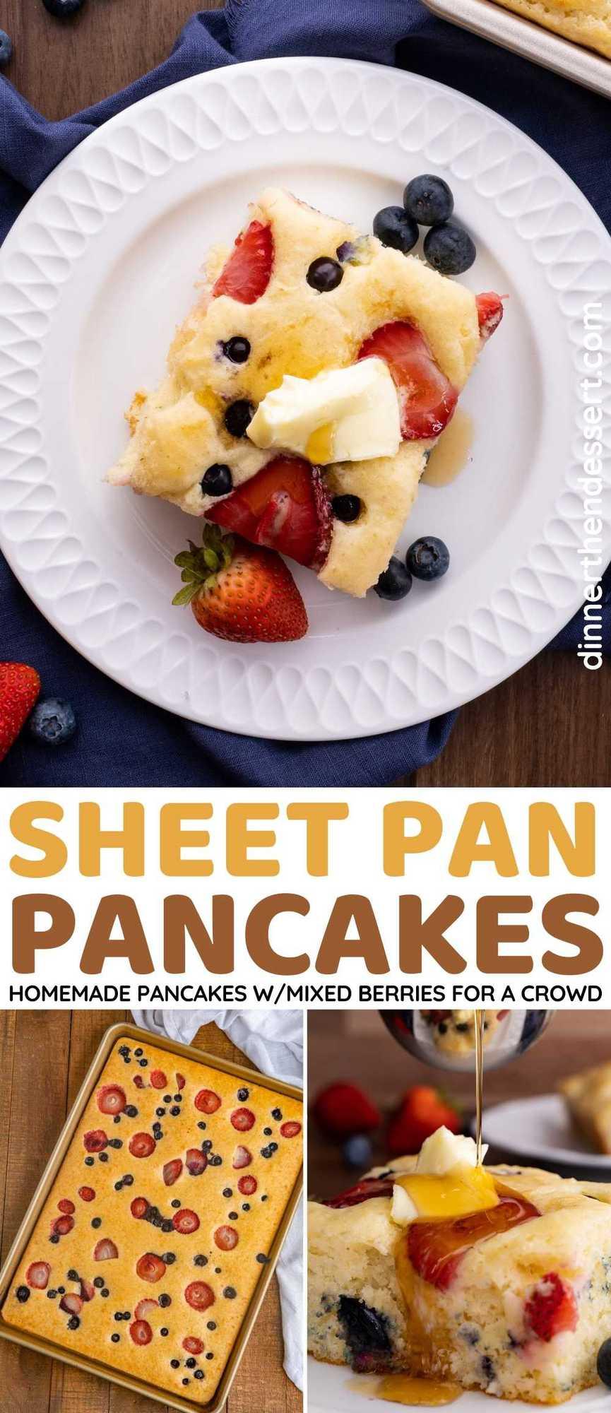 Sheet Pan Pancakes Collage