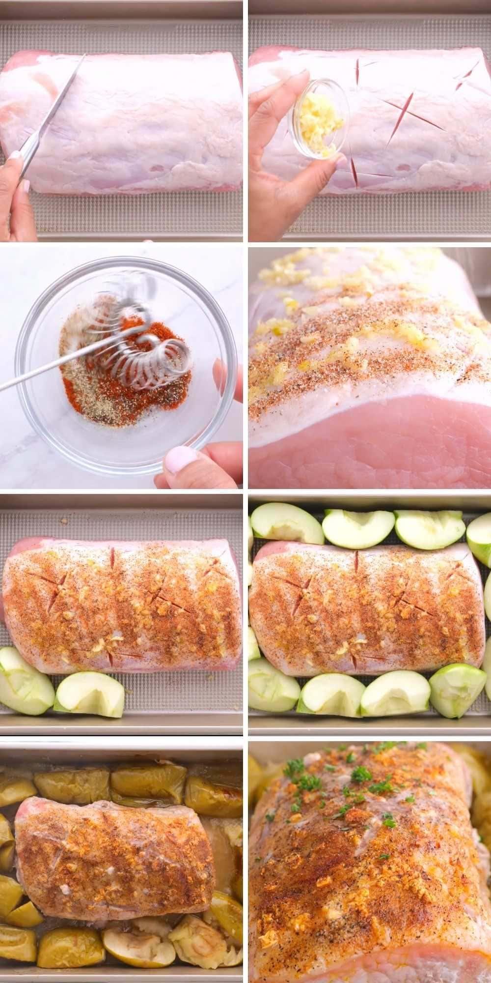Ultimate Garlic Pork Loin Roast Collage