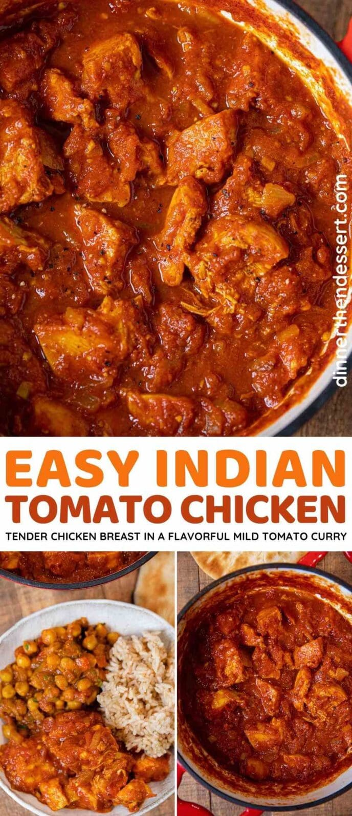 Indian Tomato Chicken collage